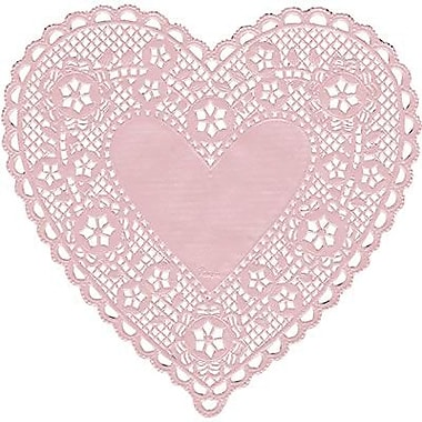 Hygloss® Heart Paper Lace Doilies, 6in., Pink