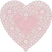 "Hygloss® Heart Paper Lace Doilies, 6"", Pink"