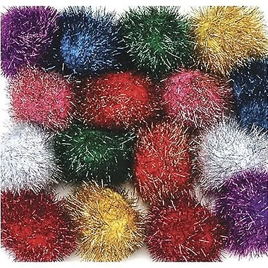Chenille Craft® Glitter Poms, Assorted