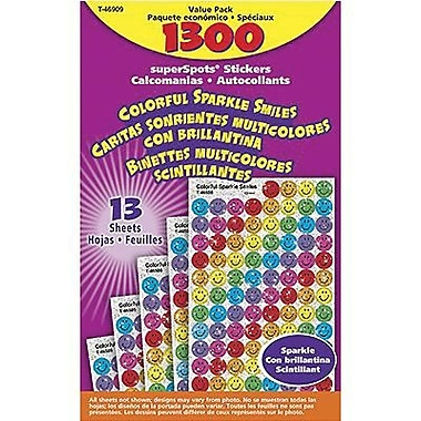 Trend Enterprises® superSpots® Chart Seal, Colorful Sparkle Smiles