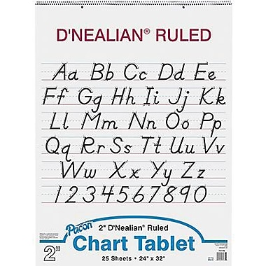 Pacon® D'Nealian™ Manuscript Cover Chart Pad, Ruled