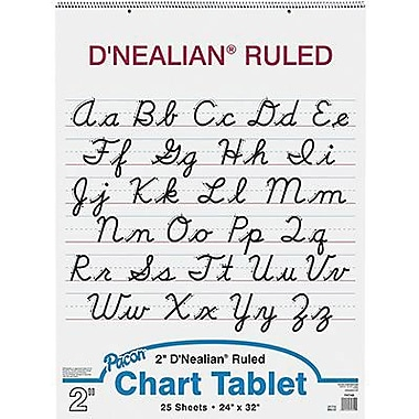 Pacon® D'Nealian™ Cursive Cover Chart Pad, Ruled