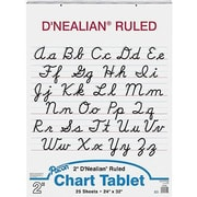 "Pacon D'Nealian Chart Tablet 32"" x 24"", White (PAC74740)"