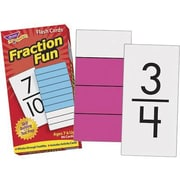 Trend Enterprises® Skill Drill Flash Cards, Fraction Fun