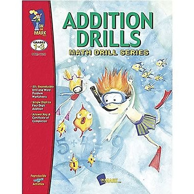 On The Mark Press® Addition Math Drill Book, Grades 1st - 3rd