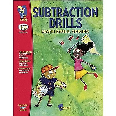 On The Mark Press® Subtraction Math Drill Book, Grades 1st - 3rd
