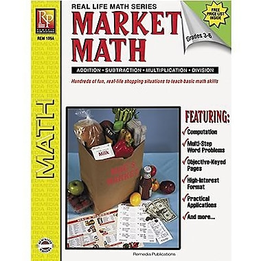 Remedia® Real World Math Beginner Market Math Book, Grades 3rd - 6th