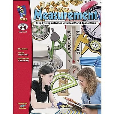 On The Mark Press® Measurement Book, Grades 4th - 8th