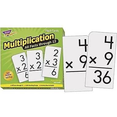 Trend Enterprises® Skill Drill Flash Cards, Multiplication 0 - 12 All Fact