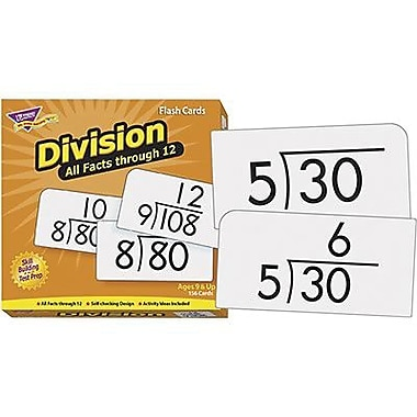 Trend Enterprises® Skill Drill Flash Cards, Division 0 - 12 All Facts