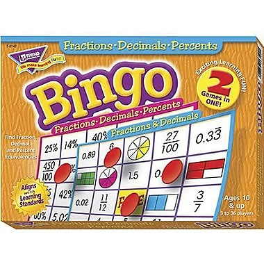 Trend Enterprises® Bingo Game, Fracion, Decimals and Percents
