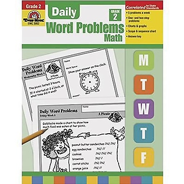 Evan-Moor® Daily Word Problems Book, Grades 1st