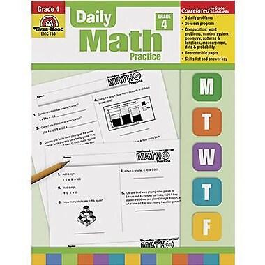 Evan-Moor® Daily Math Practice Book, Grades 4th