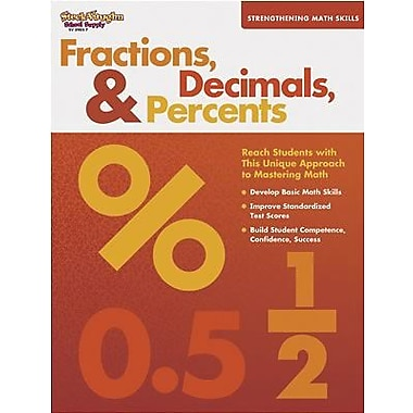 Harcourt Strengthening Math Skills Fractions, Decimals and Percents Book, Grades 5th - 6th