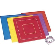 "Learning Resources® 7"" Plastic Geoboard Classpack, 5"" x 5"" grid grid"