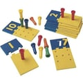 Learning Resources® Number Puzzle-Boards and Pegs, Grades Pre School - 1st