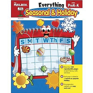 The Mailbox Books® Arts and Crafts Activity Book, Everything Seasonal and Holiday, Grades Pre K - K