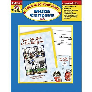 Evan-Moor® Take It To Your Seat Math Centers Book, Grades 4th - 6th