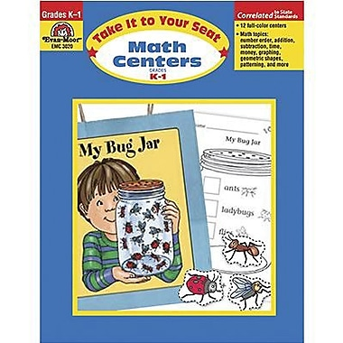 Evan-Moor® Take It To Your Seat Math Centers Book, Grades Kindergarten - 1st