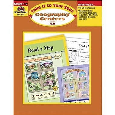 Evan-Moor® Take It To Your Seat Geography Centers Enhanced E-Book, Grades 1st - 2nd