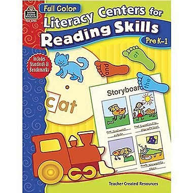 Teacher Created Resources® Literacy Centers For Reading Skills Book, Grades Pre School - 1st