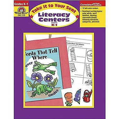 Evan-Moor® Take It To Your Seat Literacy Centers Teacher Resource Book, Grades Kindergarten - 1st