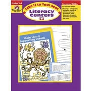 Evan-Moor® Take It To Your Seat Literacy Centers Teacher Resource Book, Grades 3rd - 4th