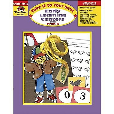Evan-Moor® Take It To Your Seat Early Learning Centers, Grades Pre Kindergarten - K