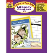 Evan-Moor® Take It To Your Seat Literacy Centers Teacher Resource Book, Grades 4th - 5th