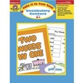 Evan-Moor® Take It To Your Seat Vocabulary Centers Teacher Resource Book, Grades Kindergarten - 1st