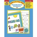 Evan-Moor® Take It To Your Seat Vocabulary Centers Teacher Resource Book, Grades 2nd - 3rd