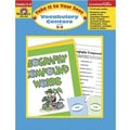 Evan-Moor® Take It To Your Seat Vocabulary Centers Teacher Resource Book, Grades 3rd - 4th
