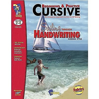 On The Mark Press® Sailing Through Handwriting Beginning and Practice Big Book, Grades 2nd - 4th