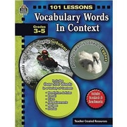 Teacher Created Resources® Vocabulary Words In Context Book, Grades 3rd - 5th