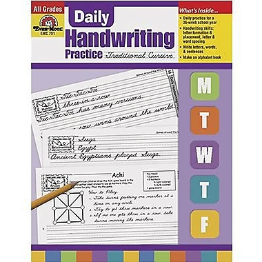 Evan-Moor® Daily Traditional Cursive Handwriting Practice Book