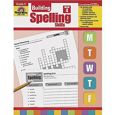 Evan-Moor® Spelling Skills Book, Grades 4th