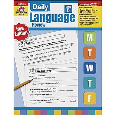Evan-Moor® Daily Language Review Teacher's Edition Book, Grades 6th+