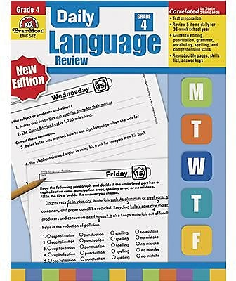 Evan-Moor Daily Language Review Teacher's Edition Book, Grades 4th