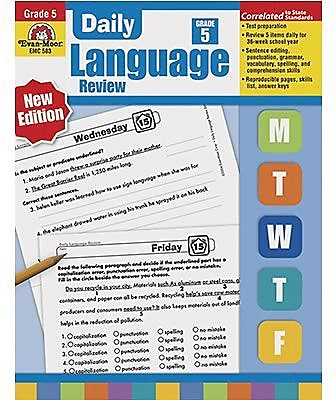 Evan-Moor Daily Language Review Teacher's Edition Book, Grades 5th