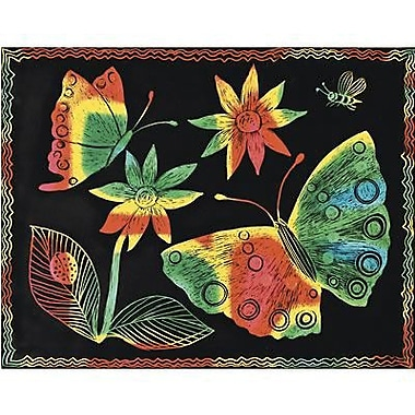Scratch Art® 11in. x 8 1/2in. Soft Scratch Board Craft Paper, 10/Pack