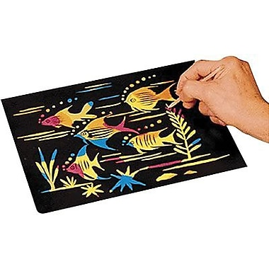 Scratch Art® Craft Paper, Multi Color, 12/Pack