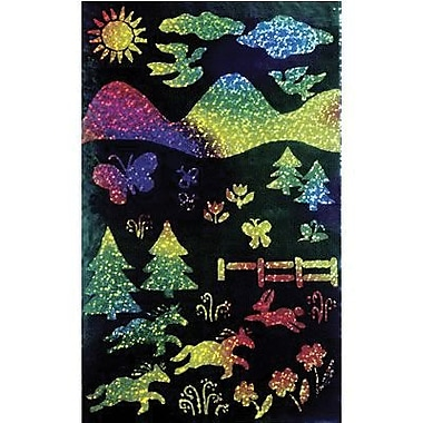 Scratch Art® 11in. x 8 1/2in. Scratch and Sparkle Glitter Board Craft Paper, Multi Color, 10/Pack