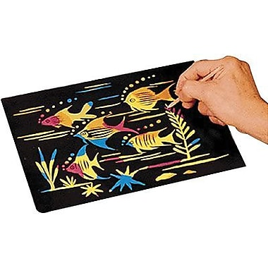 Scratch Art® Craft Paper, Multi Color, 50/Pack