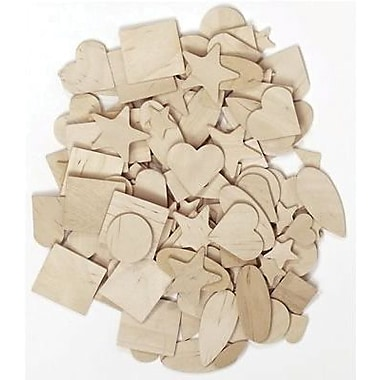 Chenille Craft® Shapes, Natural Wooden