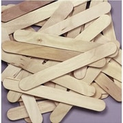 Chenille Craft® Natural Jumbo Wood Craft Sticks, 500 Pieces
