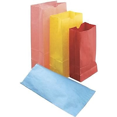 Hygloss® 9in. x 6in. Pinch Bottom Craft Paper Bag, Rainbow