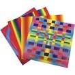 "Roylco® 7"" x 7"" Rainbow Weaving Mats Craft Paper"