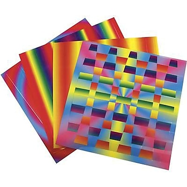 Roylco® 7in. x 7in. Rainbow Weaving Mats Craft Paper