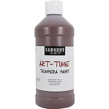 Sargent Art Art-Time Non-Toxic 16 oz. Tempera Paint, Brown (22-6488)