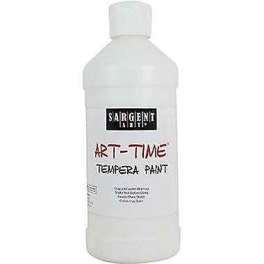 Sargent Art Art-Time Non-Toxic 16 oz. Tempera Paint, White (22-6496)